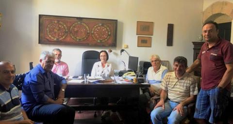 Συνάντηση Κάλλιστου Διακογεωργίου με εκπροσώπους της Εφορείας Αρχαιοτήτων για την διοργάνωση εκδηλώσεων σε αρχαιολογικούς χώρους